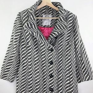 MILLY of New York JACKET Coat Size 8 Button Front
